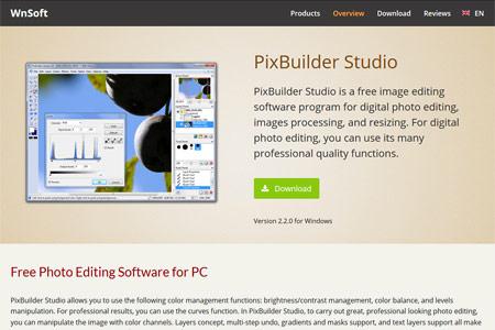 Фоторедактор PixBuilder Studio